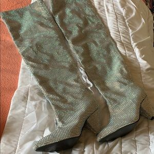 Over Knee Studded Boots Size 9